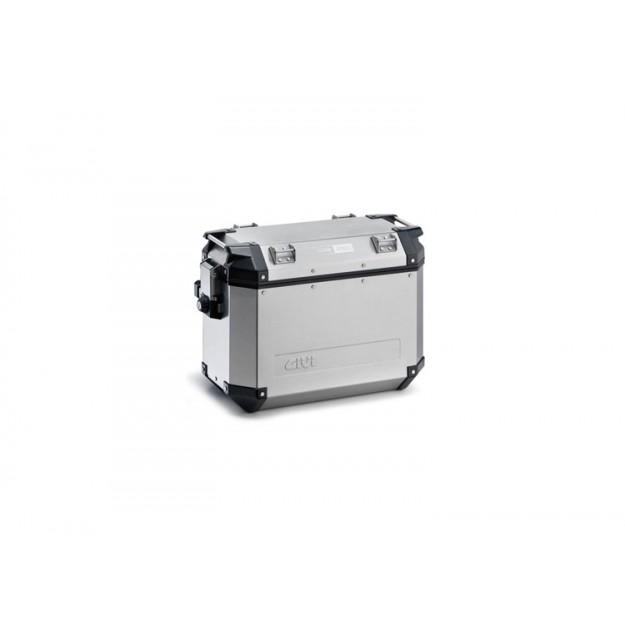 Stranski kovček GIVI TREKKER OUTBACK aluminijast srebrn 48L desni